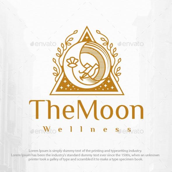 Moon Face Beauty Logo Template