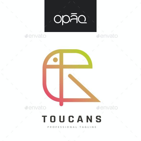 Toucan Minimal Bird Logo