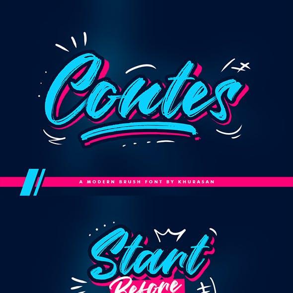 Contes Brush Font