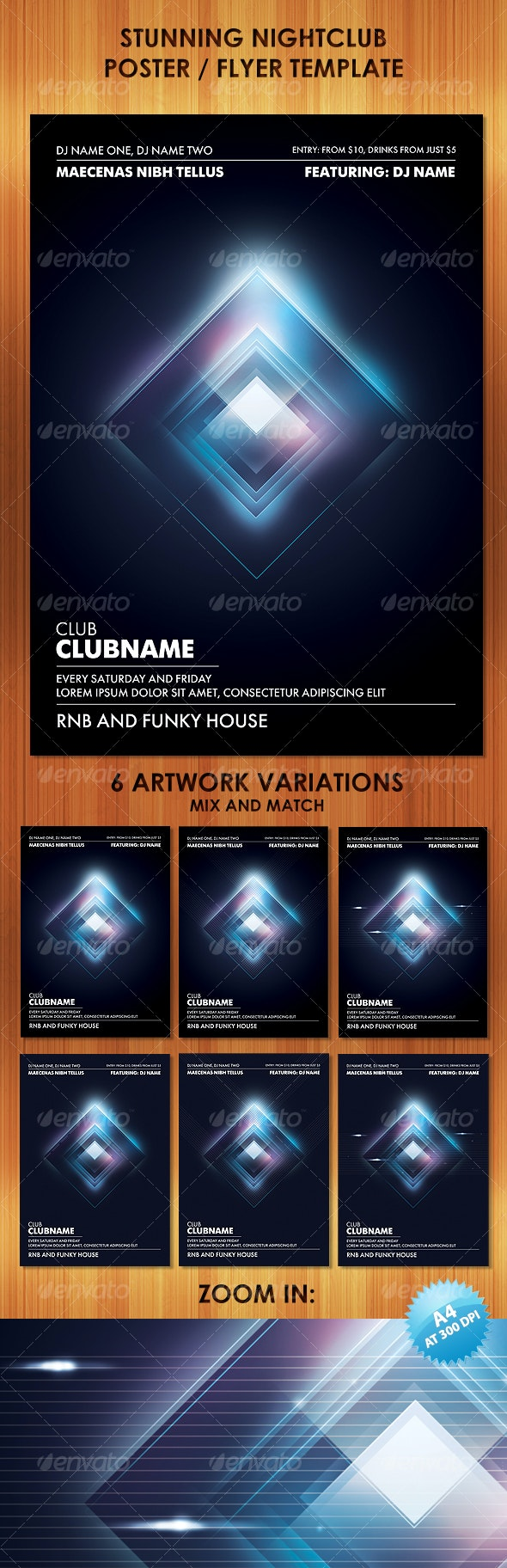 Stunning Nightclub Poster Flyer Template - Clubs & Parties Events