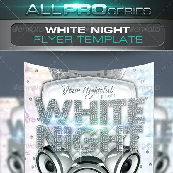 White Night Flyer Template