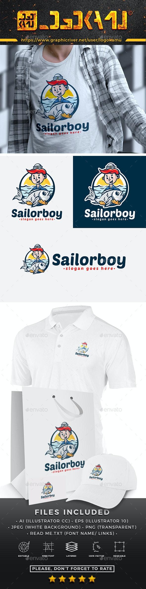 Sailor Boy Cartoon Logo - Humans Logo Templates