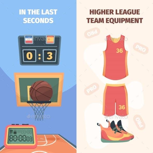 Basketball Championship Vertical Banner
