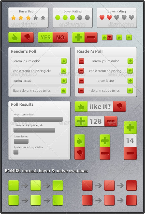 Rating & Voting Elements - Miscellaneous Web Elements