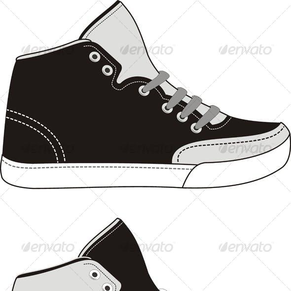 Set of sports footwear
