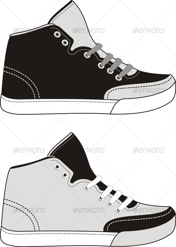 Set of sports footwear - Sports/Activity Conceptual