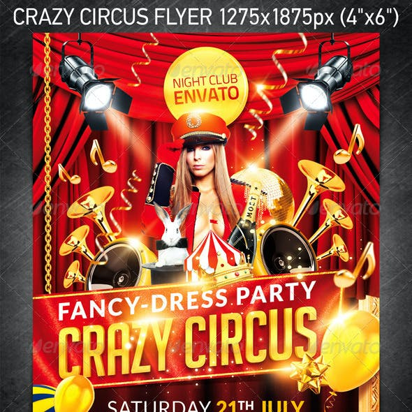 Crazy Circus Party Flyer