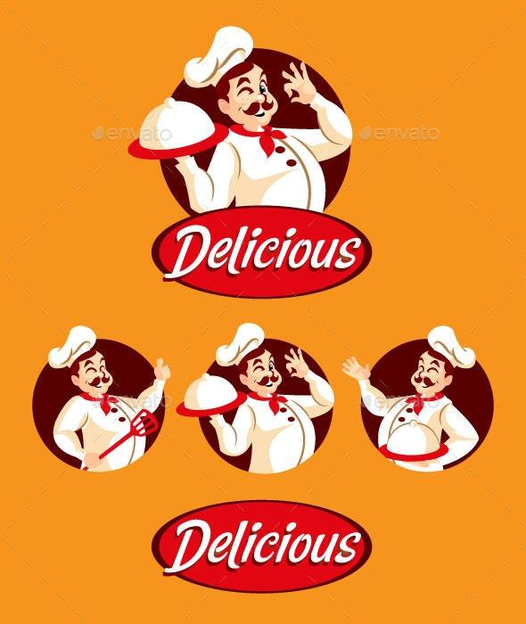 Man Chef Mascot - Vectors