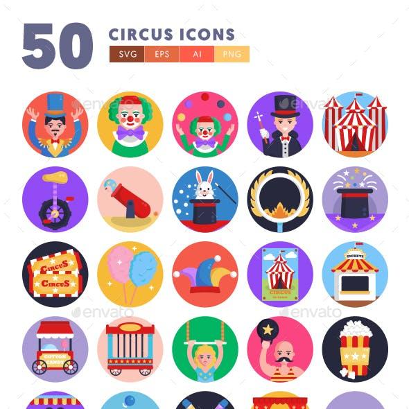50 Circus Icons
