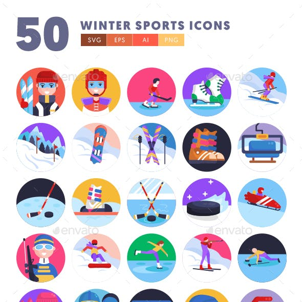 50 Winter Sports Icons