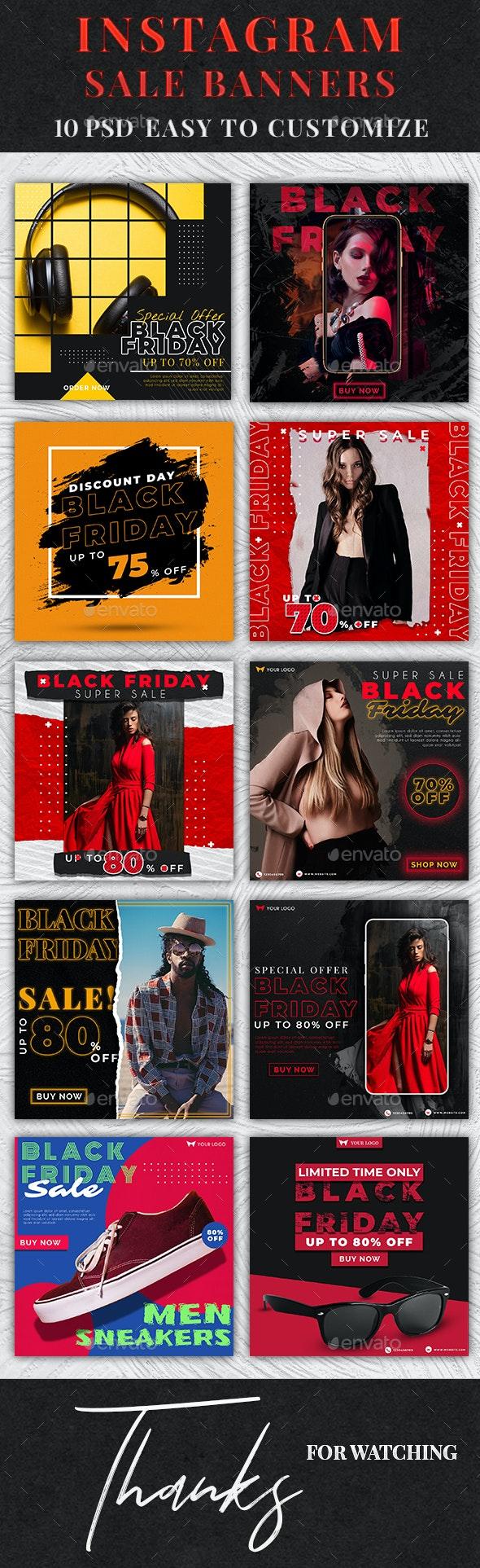 Instagram Sale Banners - Social Media Web Elements