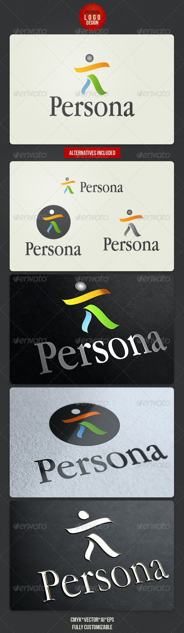 Persona Clean Logo Design - Symbols Logo Templates