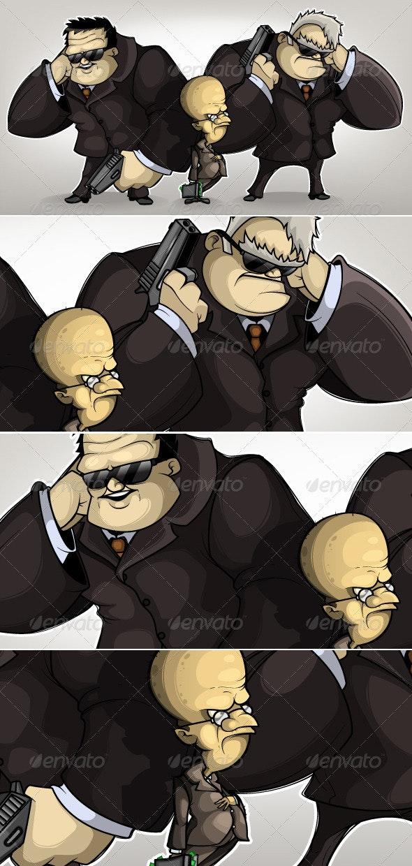 Bodyguards tycoon - Characters Vectors