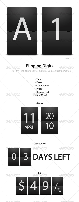 Flipping Digits - Miscellaneous Web Elements