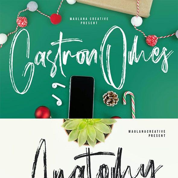 Gastronomes Brush Handmade Font