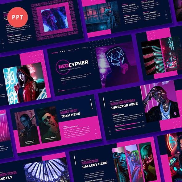 Neocypher Cyberpunk Power Point Template