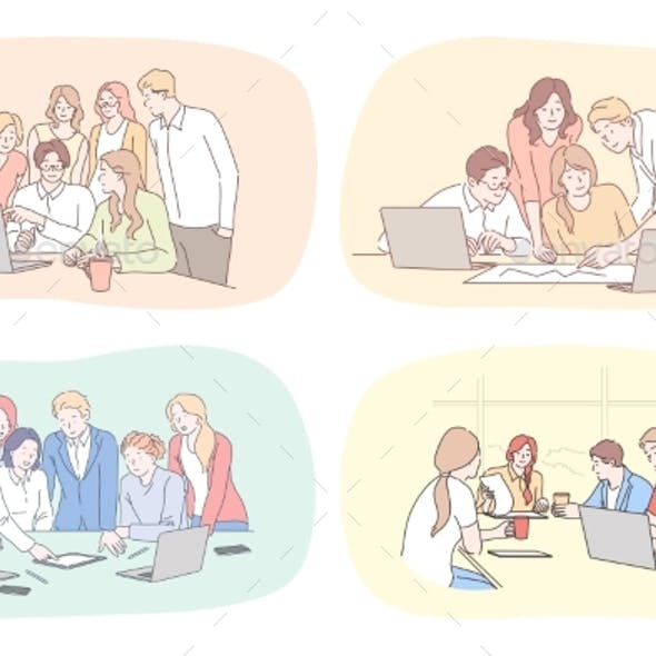 Business Leadership Coworking Meeting