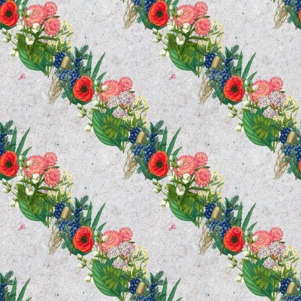 Hand Drawn Medicinal Plant Seamless Pattern - Patterns Decorative