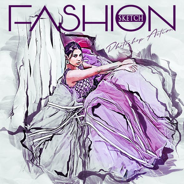 Fashion Sketch Photoshop Action
