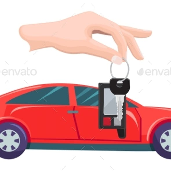 Car Property and Keys in Hands Buying Vehicle