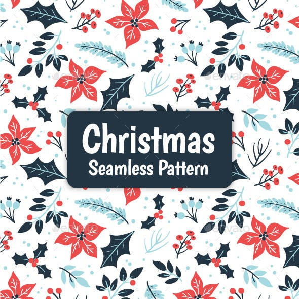 Winter Floral Christmas Pattern