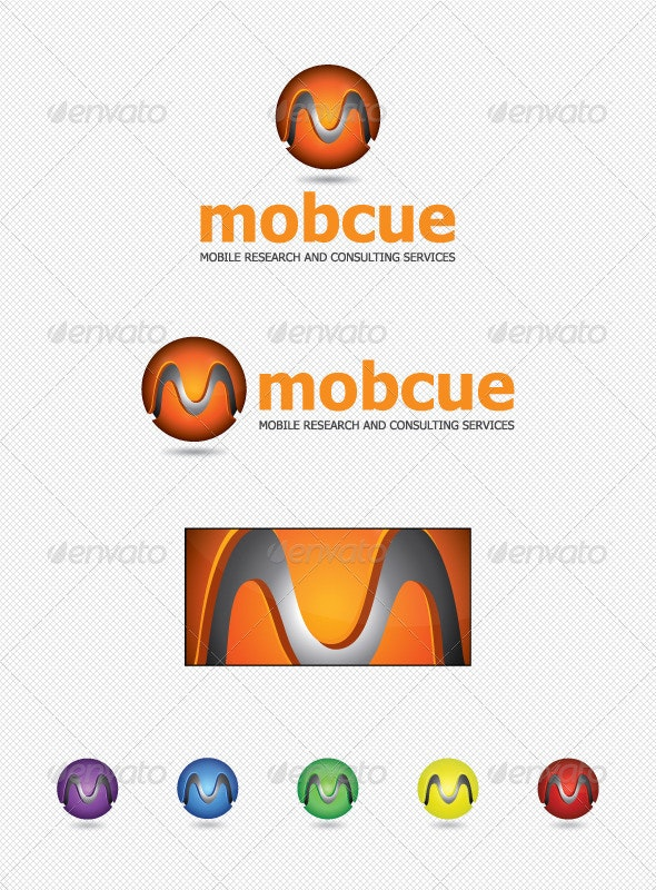 Mobile Research and Consulting Services - Letters Logo Templates