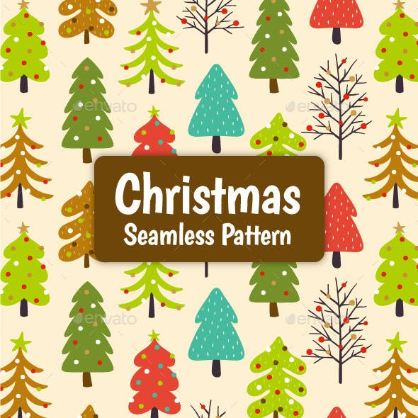 Christmas Trees Seamless Pattern