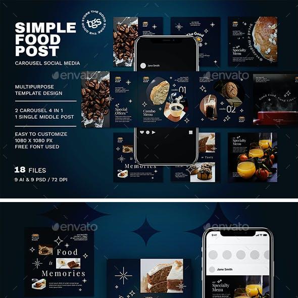 Food Carousel Social Media Pack