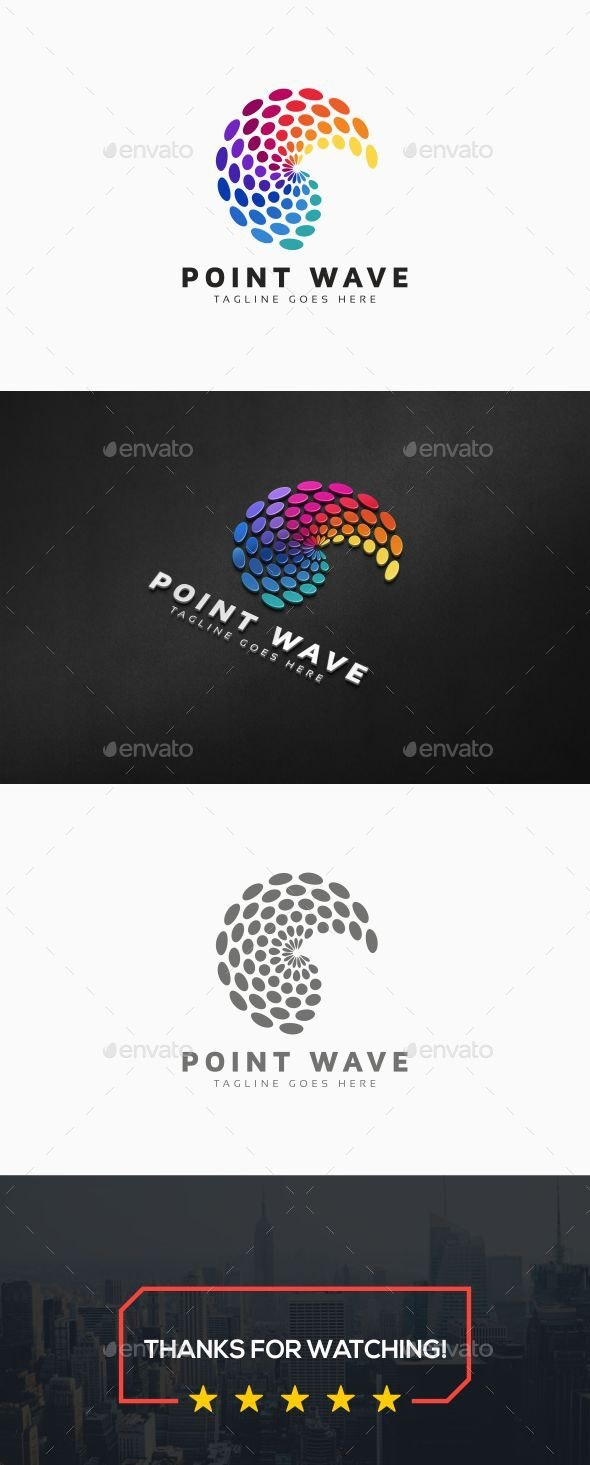 Circle Wave Colorful Logo - Symbols Logo Templates