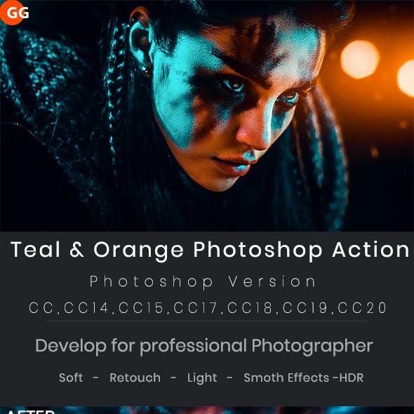 Teal & Orange Photoshop Action