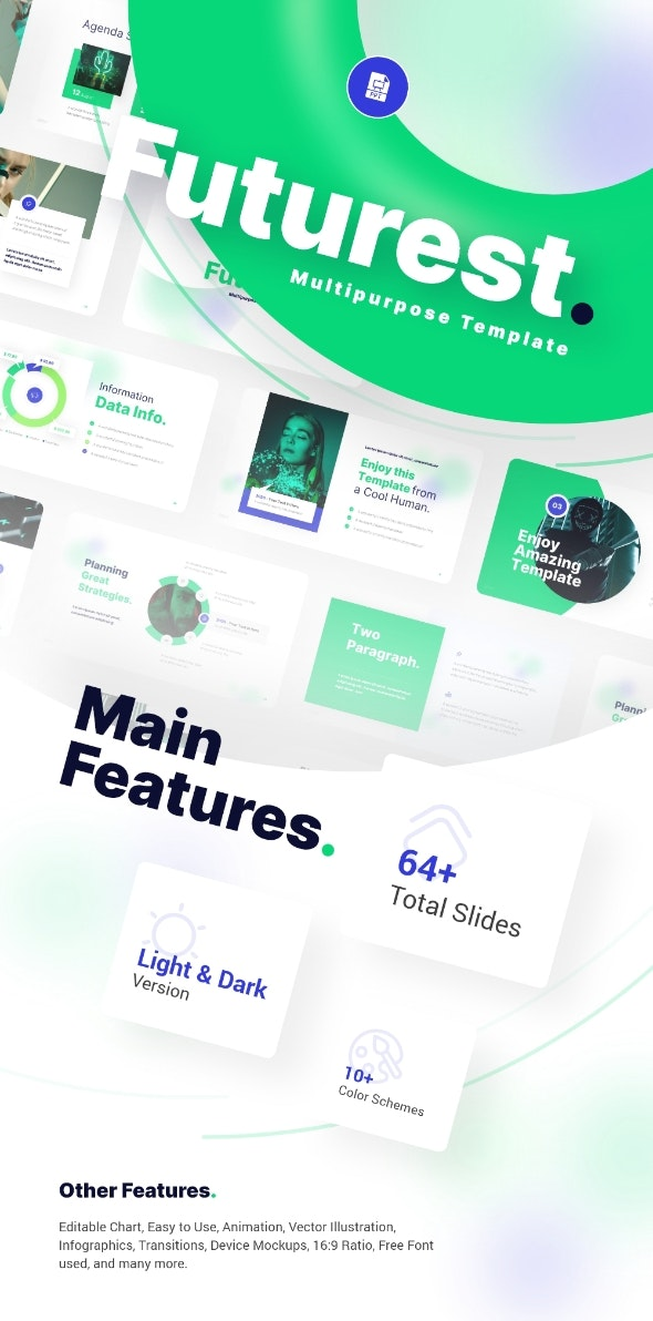 Futurest Multipurpose PowerPoint Presentation Template Template Fully Animated - Creative PowerPoint Templates