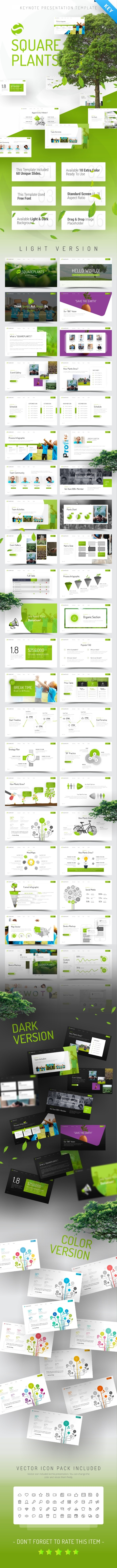 Squareplants Ecology & Environment Keynote Template - Nature PowerPoint Templates