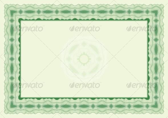 Certificate or diploma landscape position - Borders Decorative