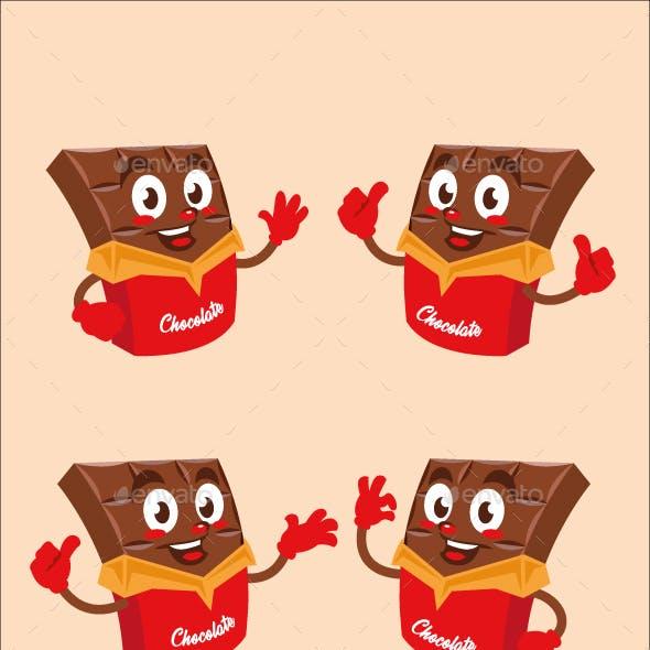 chocolate cartoon character cute design