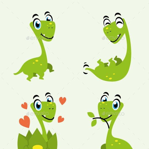 dinosaur cartoon character fun design