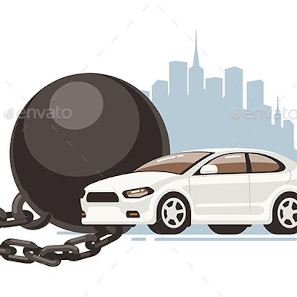 Car Restriction Prison Ball