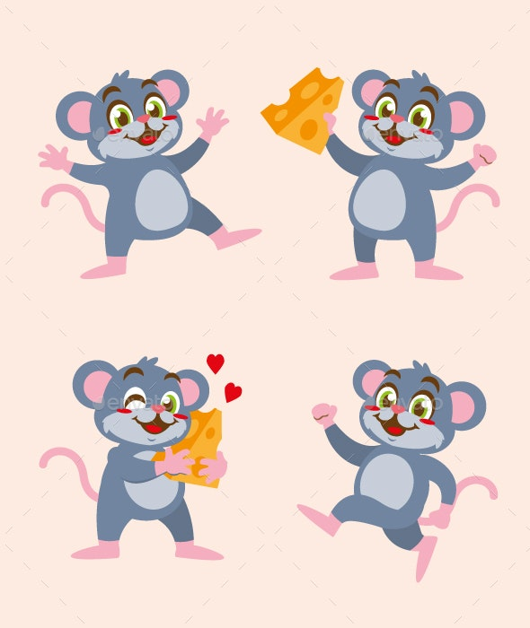 Rat Mouse Cartoon - Animals Characters