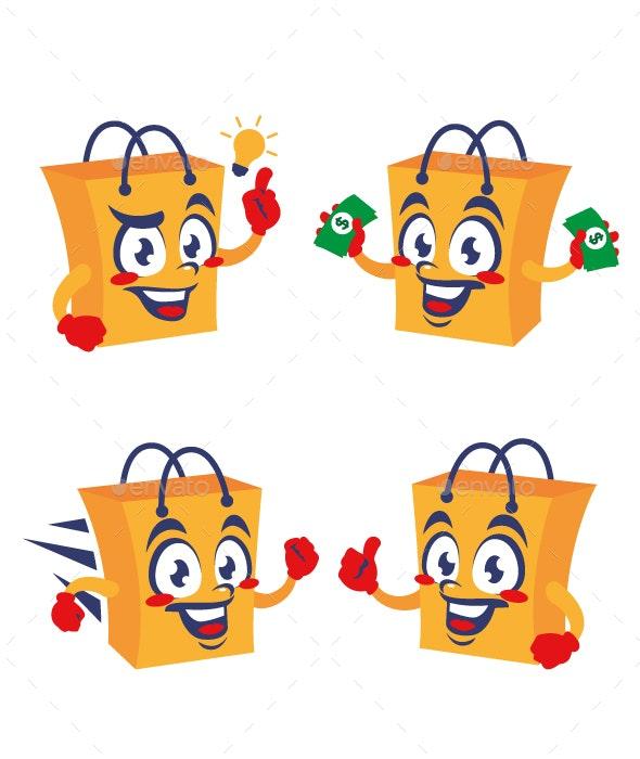 Shopping Bag Cartoon - Miscellaneous Characters
