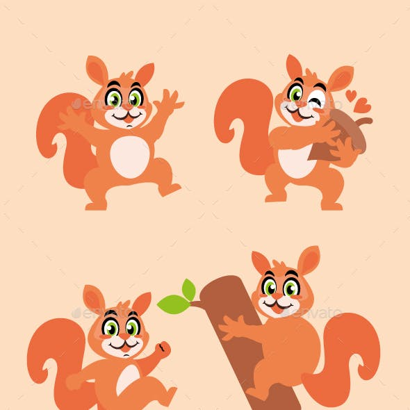 Squirrel Cartoon Character