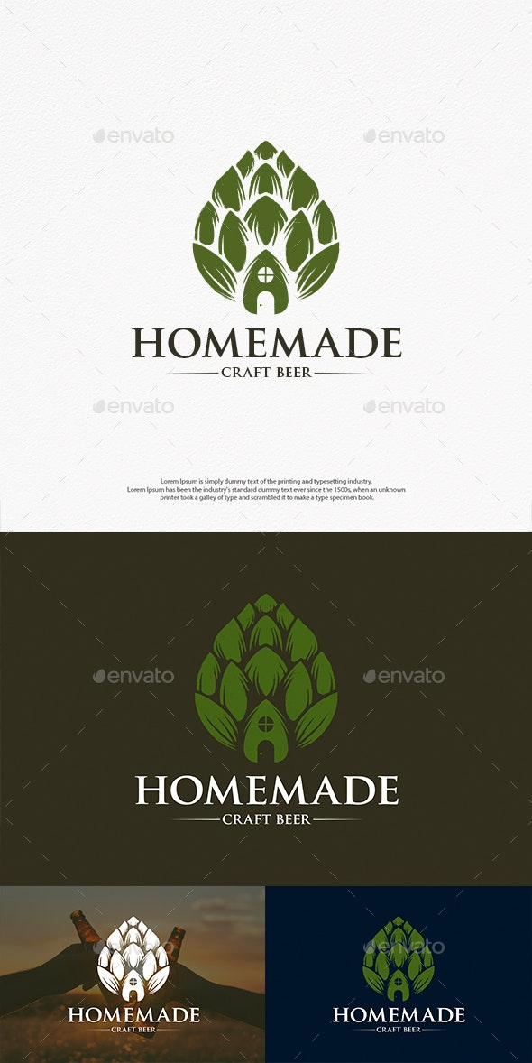 Homemade Beer Logo Template - Crests Logo Templates
