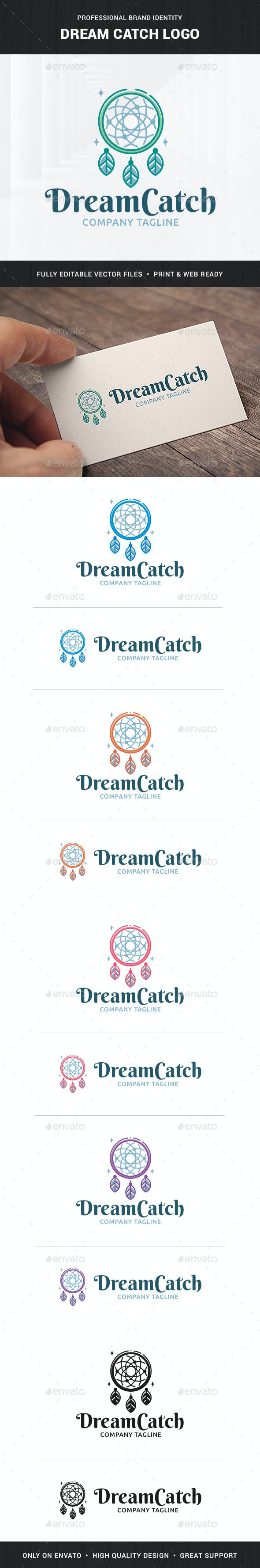 Dream Catch Logo Template - Objects Logo Templates