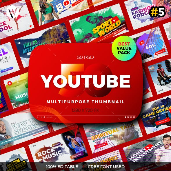 50 Youtube Thumbnail