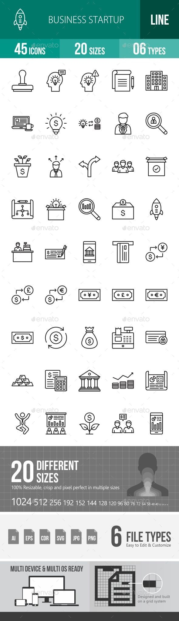 Business Startup Line Icons - Icons