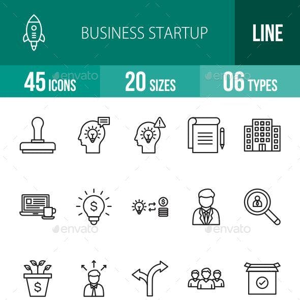 Business Startup Line Icons