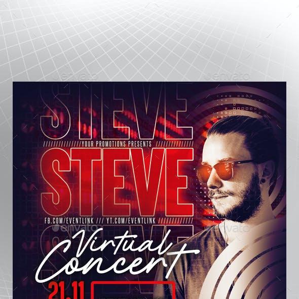 Virtual Concert Flyer