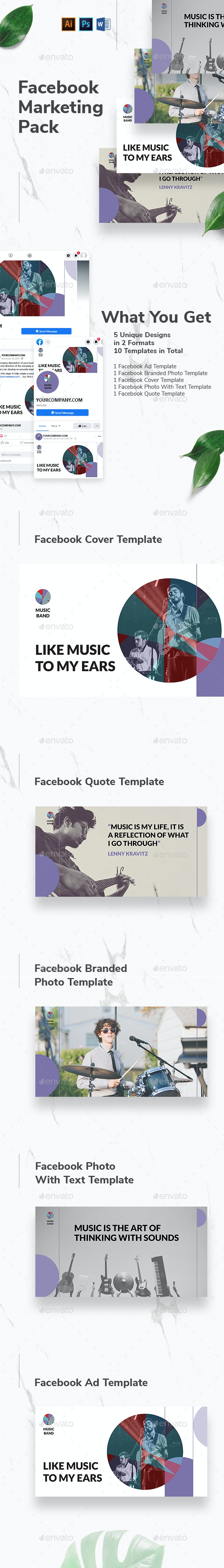 Music Band Facebook Marketing Materials - Facebook Timeline Covers Social Media