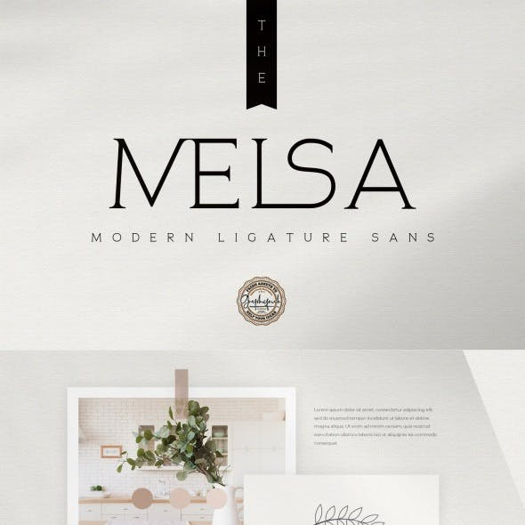 The Melsa – Modern Ligature Sans