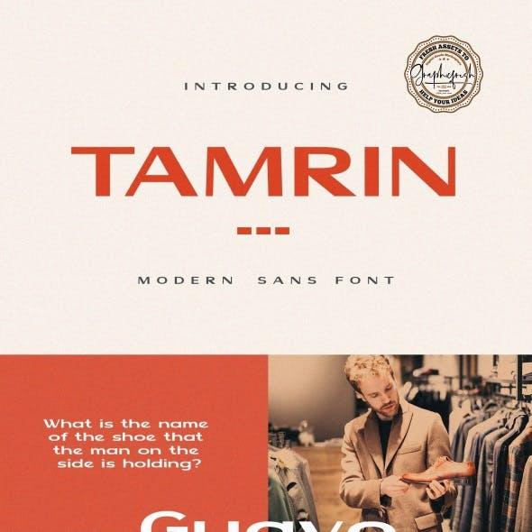 TAMRIN – Modern Sans Font