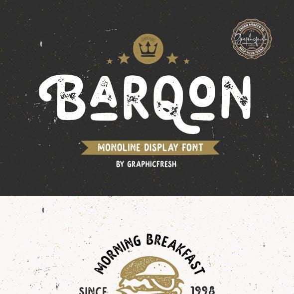 Barqon   Display Monoline Font