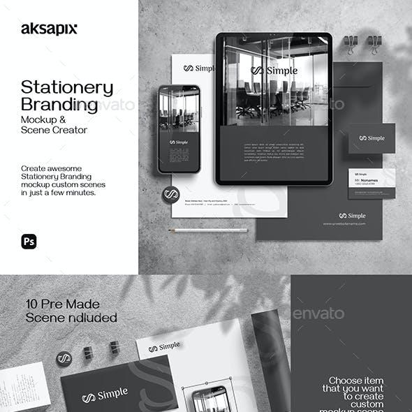 Stationery Branding Mockup - Scene Creator